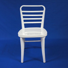White Metal Dining Hotel Room Chair