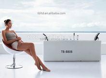 2015 new design bath, Copper skirted bathtub, double end slipper bath tub