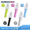 2015 best selling mini Cable selfie stick with foldable holder flexible monopod for camera and smart phone