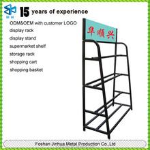 Metal tube tension fabric display/ racks for fabric rolls/ carpet rack hanging product stand display