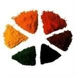 Iron oxide red pigment for epoxy terrazzo flooring