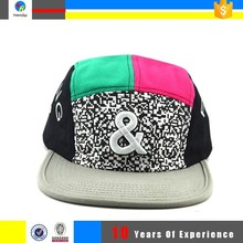 design your own 5 panel flat brim cap and hat