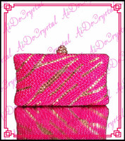 Aidocrystal factory direct sell graceful pink ladies clutch bag and matching shoes for wedding party