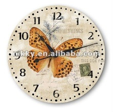 2012 Vintage style wholesale cheap clock wall