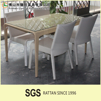 Outdoor PE wicker Aluminum furniture PE furniture with waterproof cushionTable and Outdoor Dinning chair