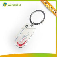 Cheap Custom High Quality Beautiful Fashion Plastic Name Tag Key Chain