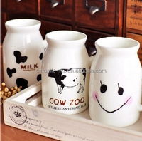 Zakka new design ceramic milk mug and cup , cow milking cup