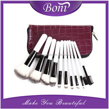 High quality and soft synthetic hair purple bag makeup brush set