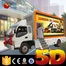Crazy!!! cool cinema on the truck 5d mobile theatre cinema seatings kino