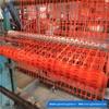 Orange plastic railway security safety fence