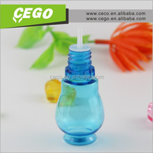 15ml PET low price hot sale plastic eye drop e-liquid dropper bottle with any color screw caps