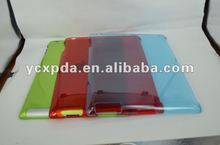 For New iPad,clear pc case, crystal back case