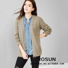 Accept woolen sweater new designs for ladies cardigan sweaters