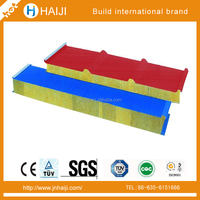 m2 price rock wool sandwich wall panel used for roof tile and door of top quality
