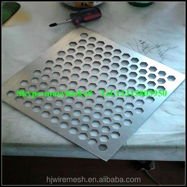 Оцинкованная перфорированная листового металла / круглое отверстие перфорированный металл