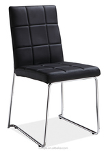 Z629 stackable black and white leather dinner chair