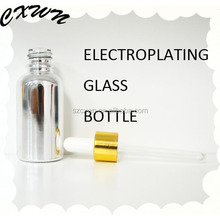 50ml vials with aluminum caps cobalt glass bottles glass spray bottle with dropper for cosmetic