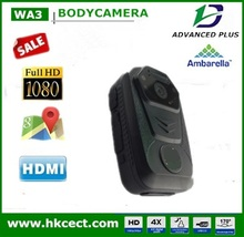 h.264 network video recorder 130degree wide angle PTT function GPS tracker home guard camera wireless body worn camera