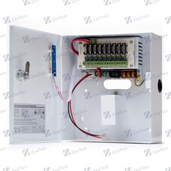 12VDC 5A security camera power supply , 9 outputs,switch mode power supplies
