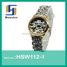 2015 top 10 modern two tone watches for women,Ladies Design watch animal printing