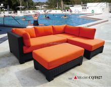 2015 new design garden rattan sofa wiker leisure outdoor furniture cushion cover