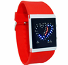 Color double heart led jelly watch,vogue watch(SWTPR1025)