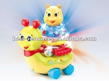 new baby toys of B/O twinkle snail/with music&light