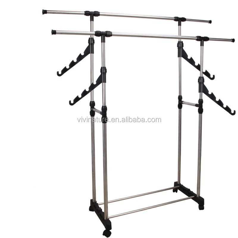 Double Rod Telescopic Clothes Drying Rack 844180274 on trade my rod