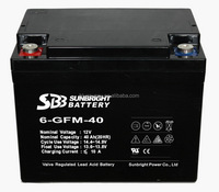 SGS 12v 40ah connected in parallel 12v 80ah solar gel battery