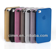 0.3mm ultra-thin Titanium Alloy Brushed Metal Phone Cases For IPhone 5