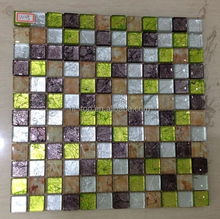 Foshan Factory High Quality Color Mixing Glass Mosaic wall/Floor Tiles glass mosaic The First Choice for Decoration