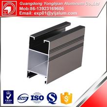 Yonglijian beautiful anodized aluminum extrusion profile for sliding wardrobe door