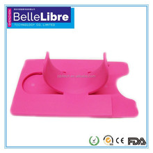 2014 silicone card case with phone stand for desk