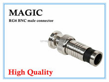 high quality bnc connectors with zinc alloy nickel-plating