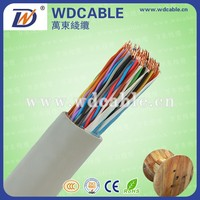 jelly filled underground telephone cable 100 pair cable color code