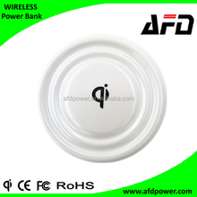 round shape wireless charger transmitter for iphone 6 , 2015 new design Qi wireless charger