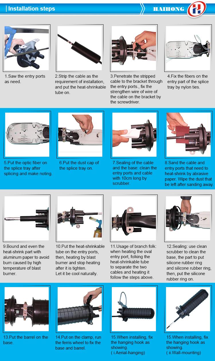 Waterproof Underground Fiber Optic Splice Enclosure Optical Fiber ...