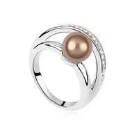 11632 fashion accessories Crystal gold wedding ring