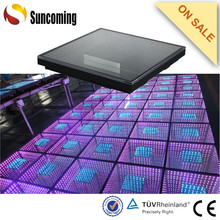 Latest 3D Magic Infinite Mirror Light Weight LED Dance Floor xxx Video For Disco Bar Wedding