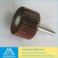 Mounted Flap Wheel Used on Portable Tools