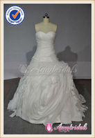 Ruffled Skirt Cinderella Real Sample Ball Wedding Gown Sample Pictures