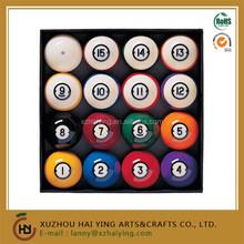 UK resin coloured billiards balls
