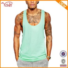 Jinhua YIZINA 100% Cotton Wholesale Sportswear Bodybuilding Mens Stringer Vest Gym Tank Top
