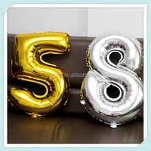 2015 New design wholesale foil number balloons