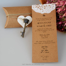 IC1503-05 New style kraft paper wedding invitations