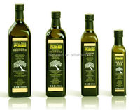 250ml /500ml/750ml/1000ml food grade dark green square transparent olive oil glass bottle,