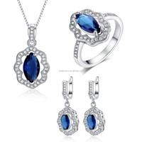 Party Wearing Zircon AAA Tanzanite Stone Silver Jewelry