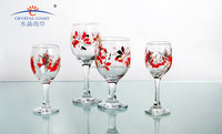Hand Painted Antique Colored Butterfly Glass Wine Glass Cups