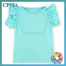 Baby Cotton Plain Aqua T-shirt 2015 Hot Sale Children Shirts Teen Girl T Shirt