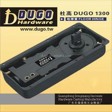 Smooth Closing And Latching Speed Floor Spring Hydraulic Floor Hinge For 130KG Glass Door DUGO 1300